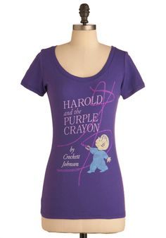 Novel Tee in Harold, #ModCloth... Actually one of my favorite art therapy activities!