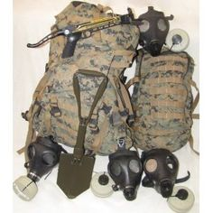 Survival Kit - 4 Person Bug Out Bag w/ Crossbow & Gas Mask