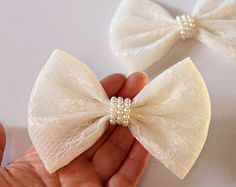 Check out our hair bow for teens selection for the very best in unique or custom, handmade pieces from our shops. Lace Hair, Hair Bow, Lace Bows, Diy Hair Accessories, Cheer Bows, Big Bows, How To Make Bows, Diy Hairstyles, Diy Clothes