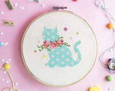 Easter Cross stitch pattern Embroidery pattern Spring Decor