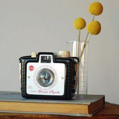 Vintage Kodak Brownie Bullet Camera Black Bakelite by vint on Etsy, $26.00