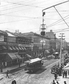 "mostly-history: """"Looking north along Yonge Street (Toronto, c. Toronto City, Toronto Canada, Toronto Street, Old Pictures, Old Photos, Vintage Photos, Vintage Photographs, Yonge Street, Canadian Things"