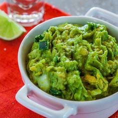 Guacamole with Tequila and Lime Recipe - Delish.com