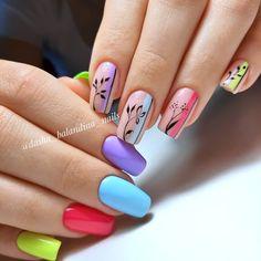 Star Nail Art, Rose Nail Art, Rose Nails, Flower Nails, Gel Nail Art, Nail Manicure, Simple Nail Art Designs, Nail Designs, Art Deco Nails