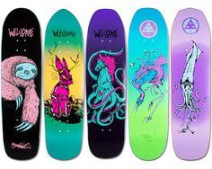 Welcome Skateboards First Five Decks