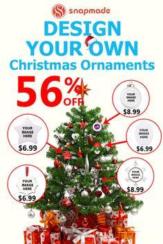 #Christmas Custom Tree Ornaments $20 for 4 Only @Snapmade.com