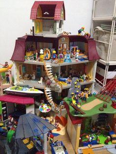 Instructions for supermarket 3200 playmobil pinterest for Playmobil modern house 7337