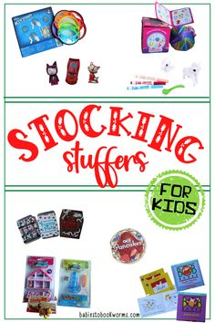 These stocking stuffers for kids include art supplies, small toys, and little books! Funny Kids, Cute Kids, Stocking Stuffers For Kids, Painted Sticks, Book Lovers Gifts, Classic Toys, Little Books, Kids Gifts, Cool Gifts