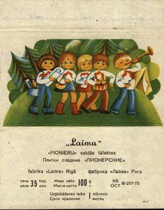Soviet Latvian chocolate wrapper