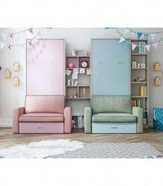 This photo is an unquestionably inspiring and wonderful idea Kids Bedroom Furniture Design, Teen Bedroom Designs, Kids Room Design, Bed Design, Small Room Bedroom, Baby Bedroom, Home Bedroom, Bedroom Decor, Twin Wall Bed