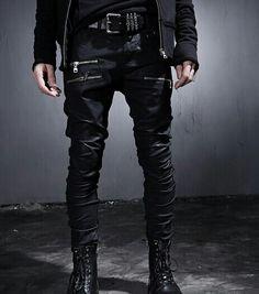 #men's street fashion#black