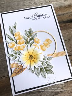 Hand Made Greeting Cards, Making Greeting Cards, Birthday Cards For Women, Handmade Birthday Cards, Make Up Artist Ausbildung, Sunflower Cards, Stamping Up Cards, Fall Cards, Sympathy Cards