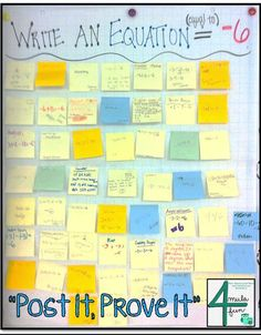 Post It, Prove It- An Exit TIcket Strategy great for Middle School Classes. This is a great exit ticket. Students will be able to prove their understanding. Math Strategies, Math Resources, Math Activities, Math Teacher, School Teacher, Teaching Math, Teaching Ideas, Teacher Hacks, Teacher Quotes