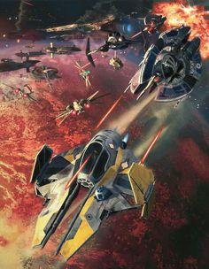 Star Wars Jedi Starfighter, Dave Seeley on ArtStation