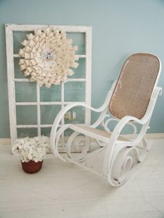 adorable antique cane wicker nursing rocking chair