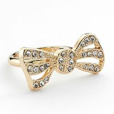 #LCLaurenConrad Gold Tone Simulated Crystal Bow Ring #KohlsDreamGifts