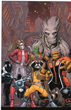 "bear1na: ""Guardians of the Galaxy #1 by Arthur Adams * "" The new guardians of the galaxy"