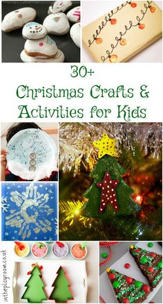 Christmas crafts for kids, huge list with loads of christmas craft and activity ideas