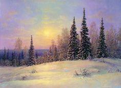 Художник С.Панин. Nature Paintings, Beautiful Paintings, Landscape Paintings, Painting Snow, Winter Scenes, Winter Wonderland, Drawings, Pictures, Outdoor