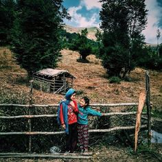 Lovely Gilaki sisters spending time with each other at a village in the Province Gilan, Iran.