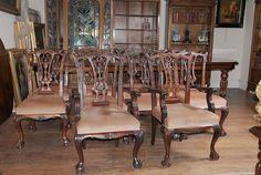 Mahogany Chippendale Chairs www.canonburyantiques.com