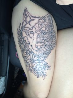 My wolf and flower combo. Every animal has a spirit and every spirit has beauty.