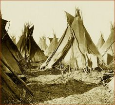 Simply titled: A Sioux Camp. Something about this photo just grabbed me.