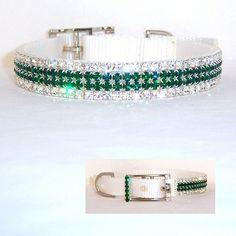 Emerald Green Sparkle Designer Dog Collars
