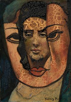 Francis Picabia: Open Mask (1931) Welp, found my reference for that Stage Makeup class lesson.