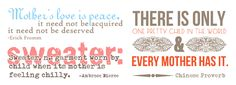 Mother's Day Quotations & Word Art