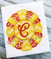 Monogram Sun Applique - 4 Sizes! | What's New | Machine Embroidery Designs | SWAKembroidery.com Creative Appliques