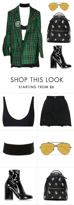 """""""- LOCATION -"""" by eemma-eklund ❤ liked on Polyvore featuring Rochelle Sara, Charlotte Russe, Alexander McQueen, Marc Jacobs and Fendi"""