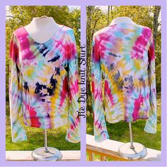 Awesome Tie Dye  Stretch Long Sleeve 100 Cotton by tranquilityy