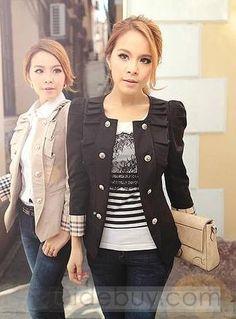 Hot Sale Korean Style Slim Plus Size Blazers : Tidebuy.com