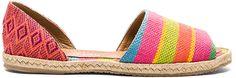 Super fun bright open toed espadrille sandals for summer. Kaanas Acacia Espadrille