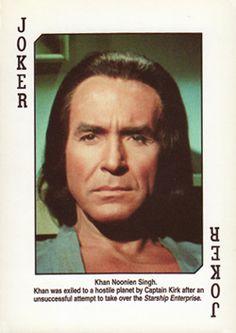 Ricardo Montalban, Kahn Joker from Star Trek Playing Cards