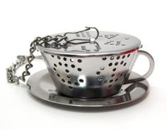STAINLESS STEEL TEA INFUSER WITH CHAIN ~ MINI TEA CUP #TEABAKETIME