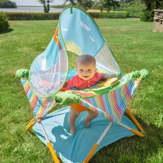 Baby Travel Gear Activity Center Camping Portable Infant Beach Toys New Baby Activity Chair, Outdoor Baby, Baby Bouncer, Beach Toys, Activity Centers, Traveling With Baby, Baby Play, Mom And Baby, New Baby Products