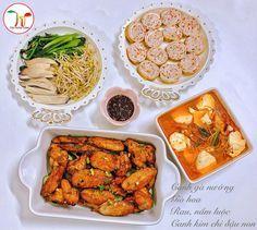 Dịch vụ nấu cỗ tại nhà ở Hà Nội gửi đến hội chị em thực đơn mâm cơm hàng ngày cho gia đình đơn giản, đẹp mắt, độc đáo và đầy đủ dinh dưỡng Daily Meals, Chicken Wings, Menu, Cooking, Vietnam, Food, Cook, Recipes, Menu Board Design