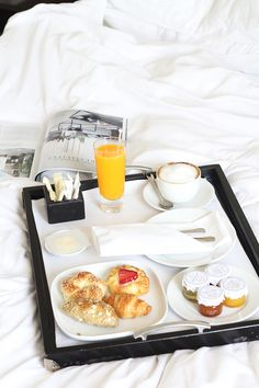 so nice, having breakfast in bed! have a nice day!