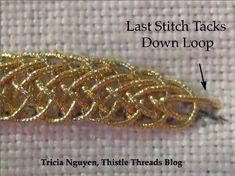 The Thistle Thread final stitch.