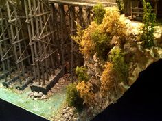 Need to add tall Reed Grass in rock crevices Black Sabbath Album Covers, Black Sabbath Albums, Ho Trains, Model Trains, Ho Train Layouts, Nightmare On Elm Street, Koi, Scrubs, Grass