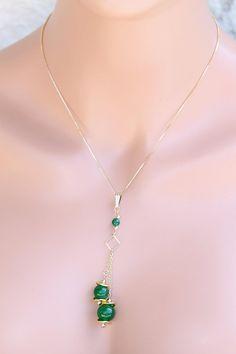 Lariat Pendant Jade jewelry Jewelry Green Jade pendant