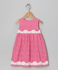 Take a look at this Pink Eyelet Sleeveless Dress - Infant & Toddler by Alouette on #zulily today!