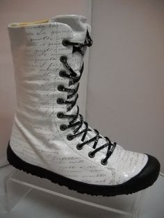 Eject from Portugal. Available in Black/Silver and White. Script Writing, Lace Up Boots, Black Silver, Calves, Combat Boots, Shoes, Fashion, Lace Up Ankle Boots, Moda