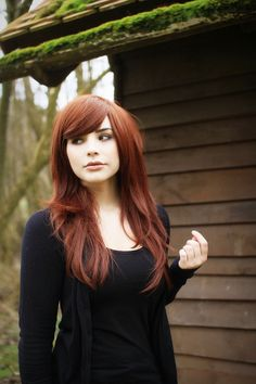 ultimate hair!: red, long, side bangs