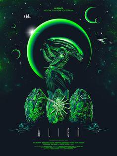 Blacklight Art Show at Hero Complex Gallery – Geek Art – Art, Design, Illustration & Pop Culture ! Alien Vs Predator, Alien 1979, Les Aliens, Aliens Movie, Arte Alien, Alien Art, Alien Convenant, Alien Pics, Best Movie Posters