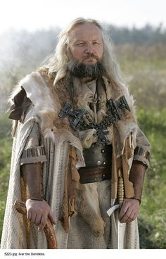 """Ivar Ragnarsson or Ivar the Boneless name is a mystery. It has been suggested it was a euphemism for impotence, It was said that he had """"no love lust in him"""". It is recorded that his stature was such that he dwarfed all his contemporaries, in battle he was always in the van. His arms were so strong that his bow was more powerful and his arrows heavier than those of his companions. Ivar was a Viking warlord and son of Ragnar Lodbrok."""