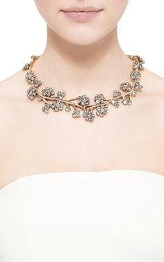 Crystal Branch Necklace by Oscar de la Renta Now Available on Moda Operandi