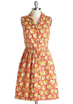 Palette on Parade Dress. Like the canvas that sits in front of you, this ModCloth-exclusive dress by Bea  Dot is marked by vibrant hues and unique designs that have you looking like a chic masterpiece each time you slip it on! #multi #modcloth